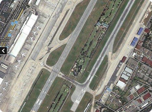 aeroporto bangkok pista da golf