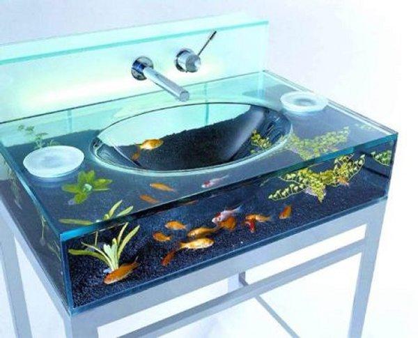 Lavandino acquario