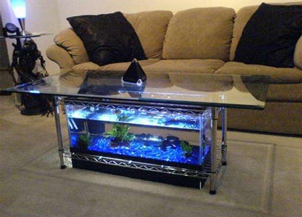 Acquario tavolo basso salone