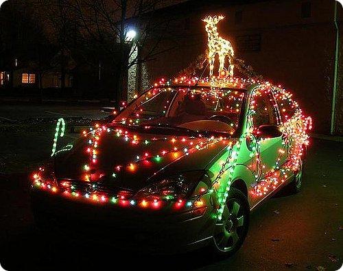 Decorazione natalizia auto