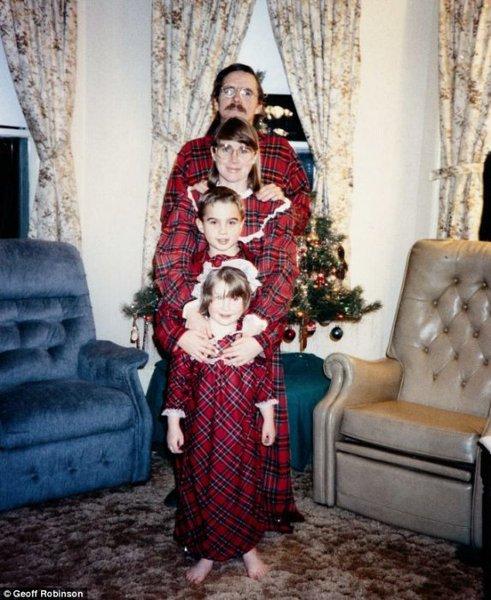 Foto di famiglia di natale