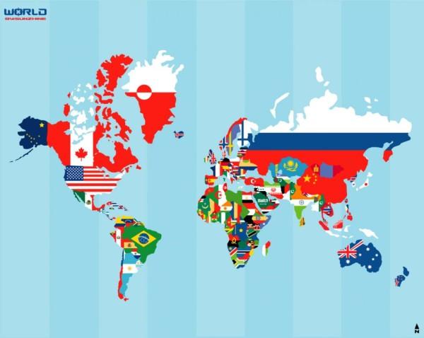mondo bandiere