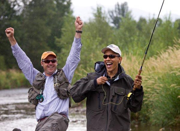 obama a pesca