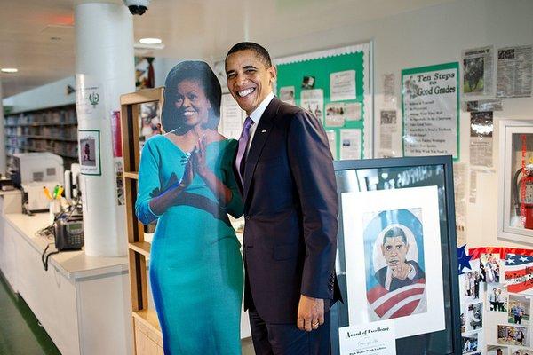 obama foto con moglie falsa