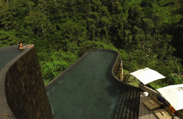 Piscina dell'hotel Ubud Hanging Gardens Bali, Indonesia
