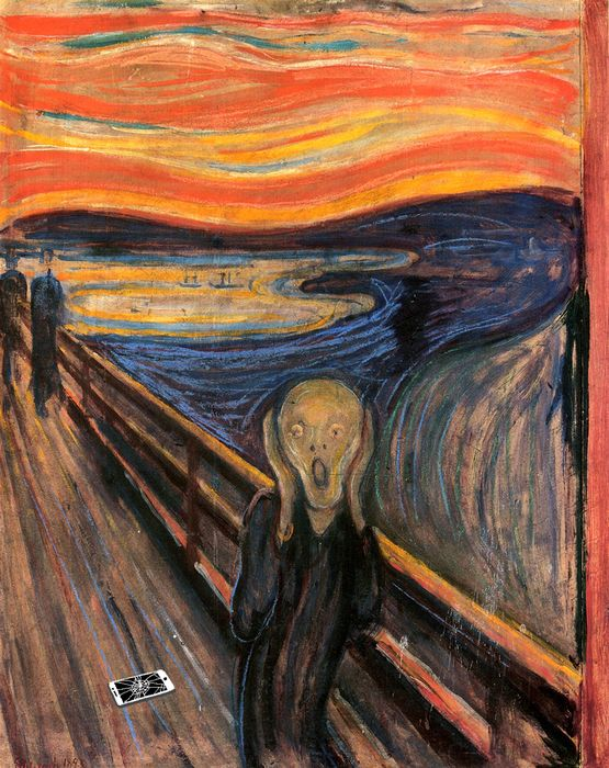 munch urlo iphone rotto