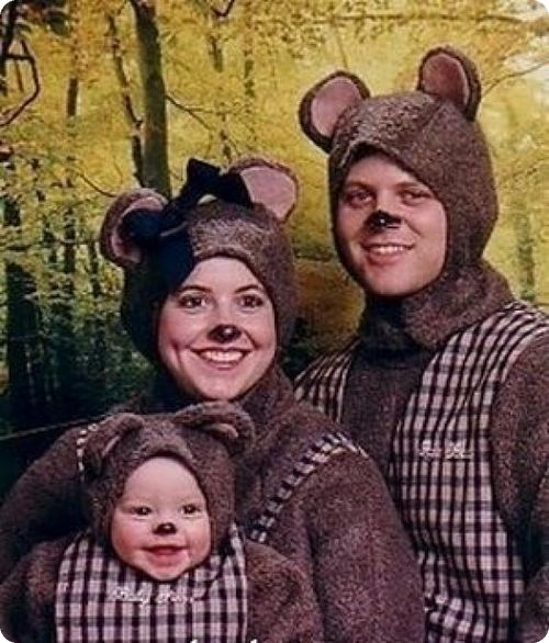 foto di famiglia paurosa
