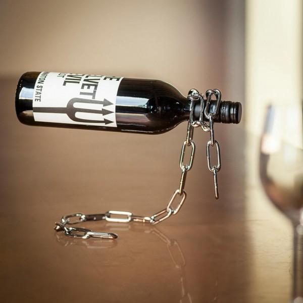 Porta bottiglia a catena